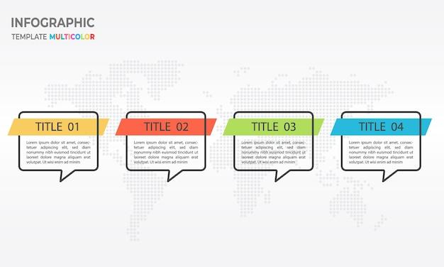 Modèle d'infographie 4 options