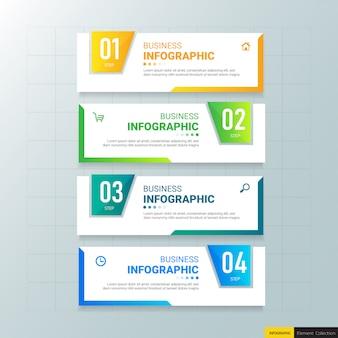 Modèle d'infographie 4 options.
