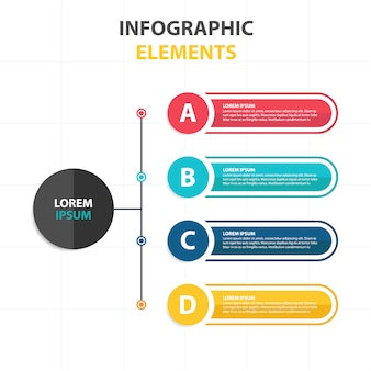 Modèle d'infographie abstraite colorée