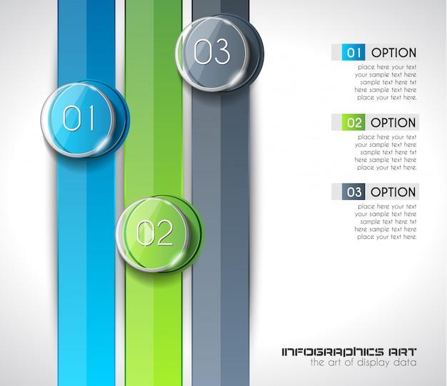 Modèle d'infographie abstraite moderne pour afficher des données