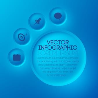 Modèle d'infographie abstraite web