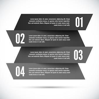 Modèle d'infographie abstraite