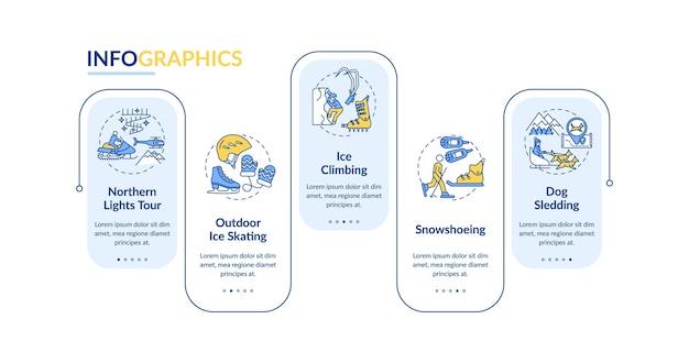 Modèle d'infographie d'activités de sports d'hiver
