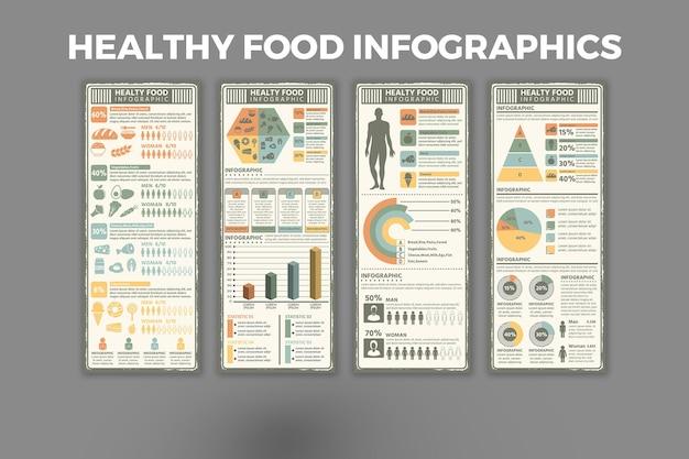 Modèle d'infographie sur les aliments sains