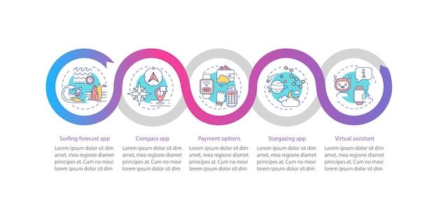 Modèle d'infographie d'attributs de smartwatch