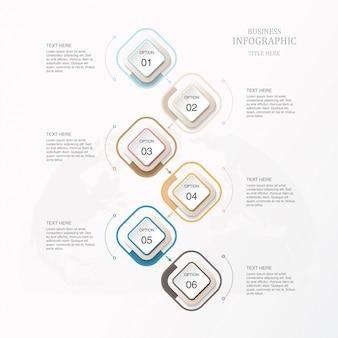 Modèle d'infographie belle couleur pour le concept d'entreprise.