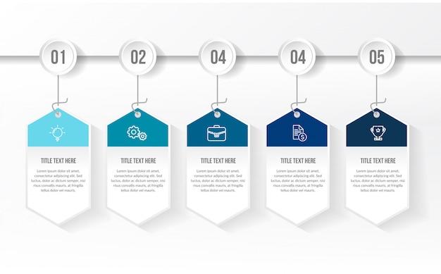 Modèle d'infographie bleu moderne