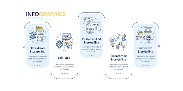 Modèle d'infographie de campagne de marketing numérique