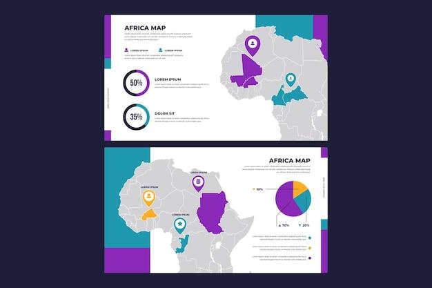 Modèle d'infographie de carte afrique