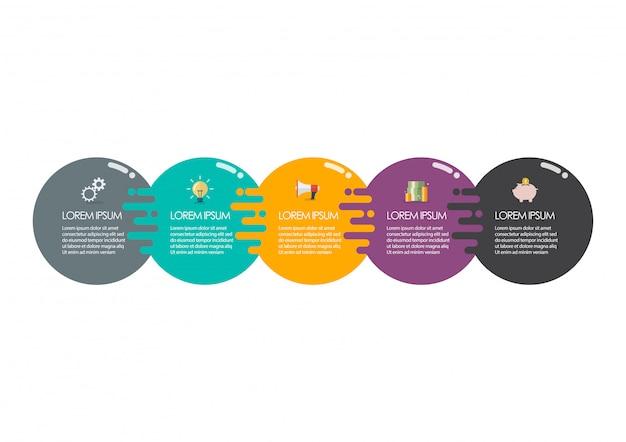 Modèle d'infographie de cercle