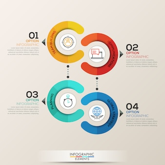 Modèle d'infographie avec des cercles