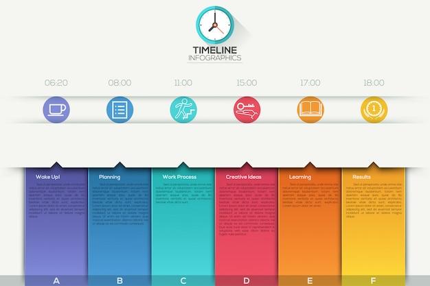 Modèle d'infographie de chronologie commerciale