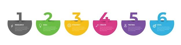 Modèle d'infographie avec chronologie des étapes