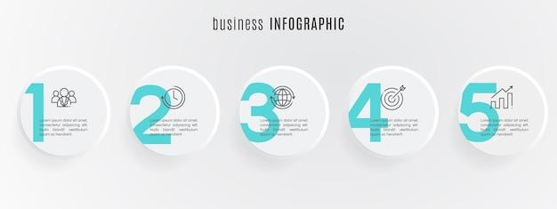 Modèle d'infographie de chronologie plate