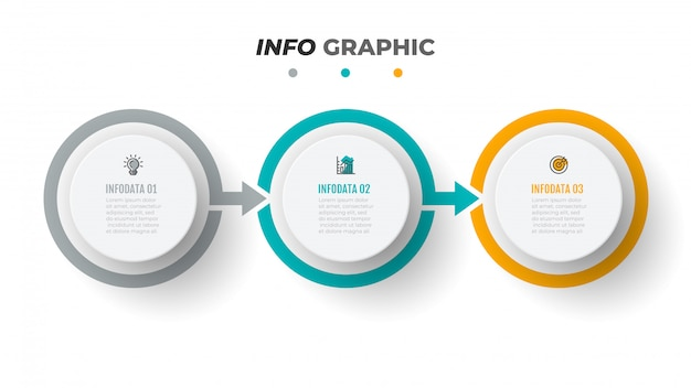 Modèle d'infographie de chronologie