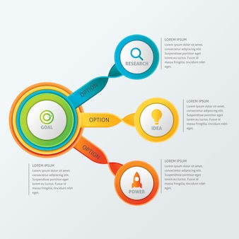 Modèle d'infographie de circle business
