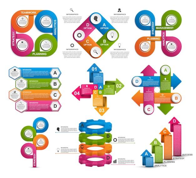 Modèle d'infographie de collection.