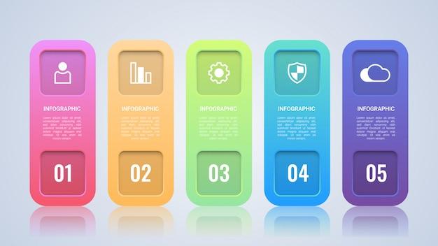 Modèle d'infographie coloré entreprise moderne