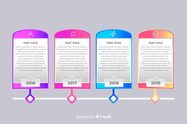 Modèle d'infographie coloré timeline moderne