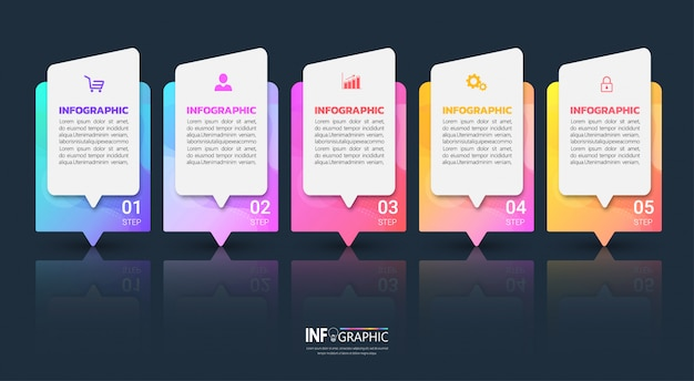 Modèle d'infographie coloré