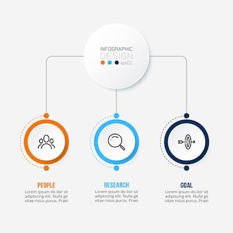 Modèle d'infographie commerciale ou marketing.