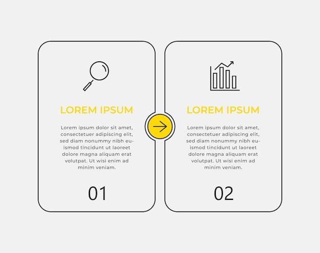 Modèle d'infographie commerciale minimale