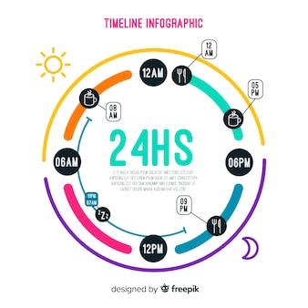 Modèle d'infographie avec le concept de calendrier