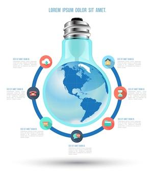 Modèle d'infographie concept commercial