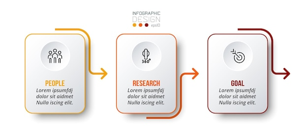 Modèle d'infographie de concept d'entreprise avec option