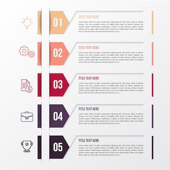 Modèle d'infographie couleur moderne