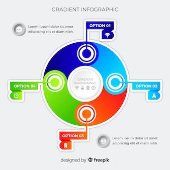 Modèle d'infographie dégradé plat