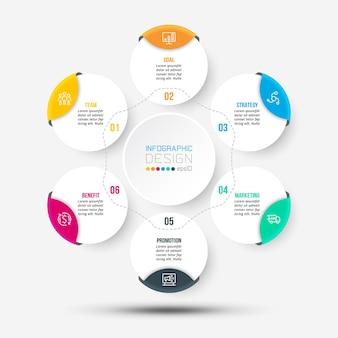Modèle d'infographie de diagramme commercial ou marketing
