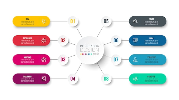 Modèle d'infographie de diagramme d'entreprise ou de marketing