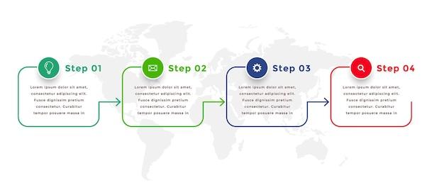 Modèle d'infographie directionnelle de style de ligne
