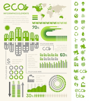 Modèle d'infographie d'écologie.