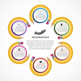 Modèle d'infographie éducative