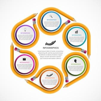 Modèle d'infographie éducative.