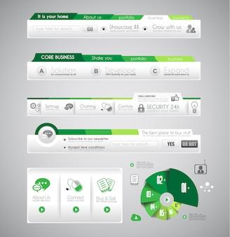 Modèle d'infographie avec des éléments