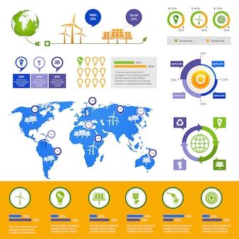 Modèle d'infographie de l'énergie