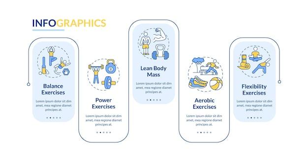 Modèle d'infographie d'entraînement musculaire