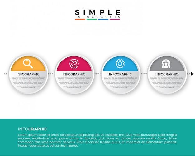 Modèle d'infographie entreprise chronologie