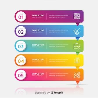 Modèle d'infographie d'entreprise, composition d'éléments infographiques