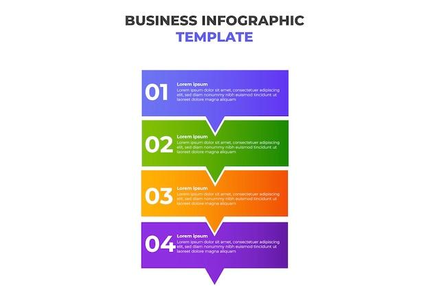 Modèle d'infographie d'entreprise dégradé moderne simple