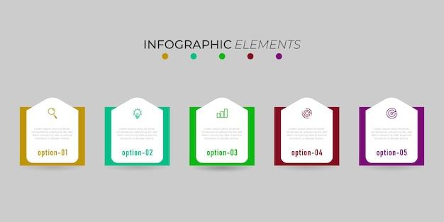 Modèle d'infographie entreprise élément