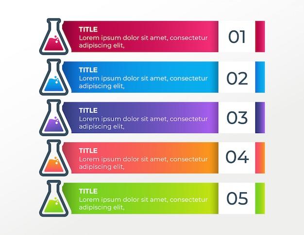 Modèle d'infographie entreprise étapes médicales