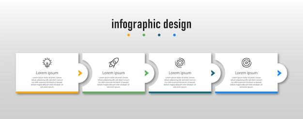 Modèle d'infographie d'entreprise étapes professionnelles conception d'infographie de chronologie