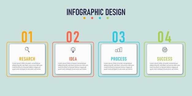 Modèle d'infographie d'entreprise en ligne