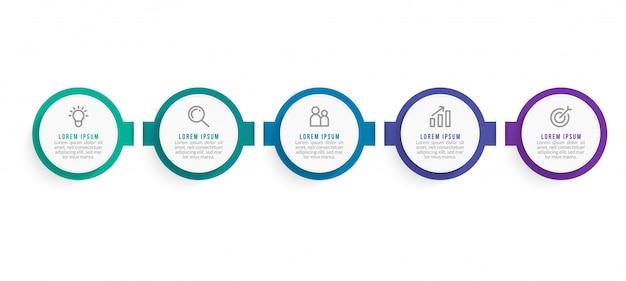 Modèle d'infographie d'entreprise minimale. chronologie avec 2 étapes, options et icônes marketing