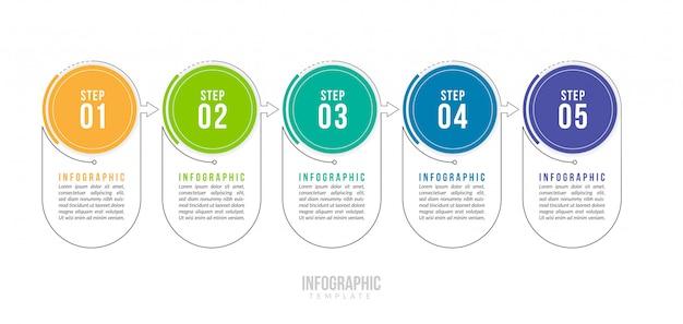 Modèle d'infographie d'entreprise minimale.