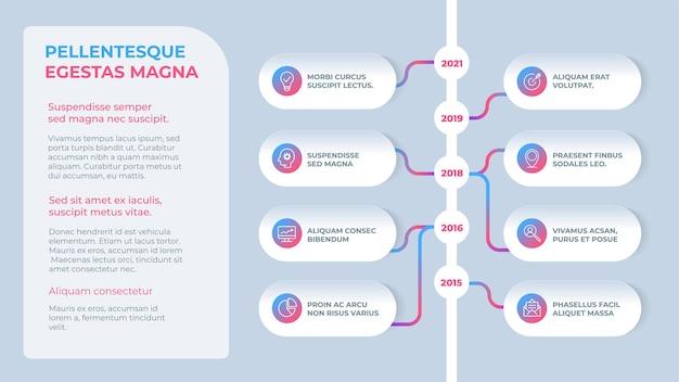 Modèle d'infographie d'entreprise avec options ou étapes
